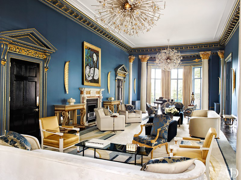 London Mansion featuring H. Theophile's door hardware and featured in Architectural Digest