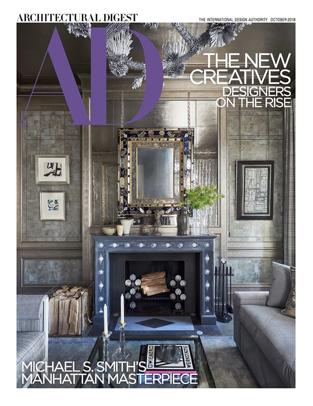 Architectural Digest Cover story featuring hardware by H. Theophile
