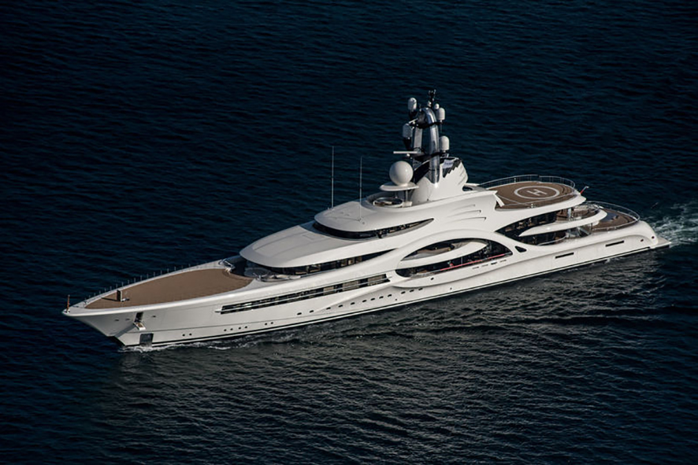 Superyacht by Feadship with marine hardware by H. Theophile.