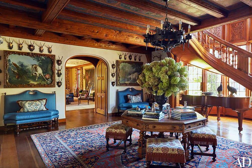 Tommy Hilfiger's Conneticut estate with historical hardware reproductions designed by H. Theophile in custom finishes.